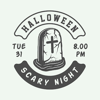 Halloween logo, emblem, badge