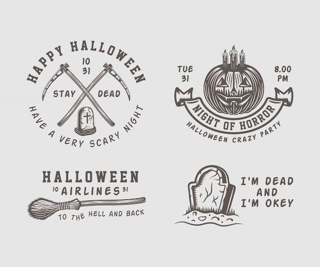 Halloween logos