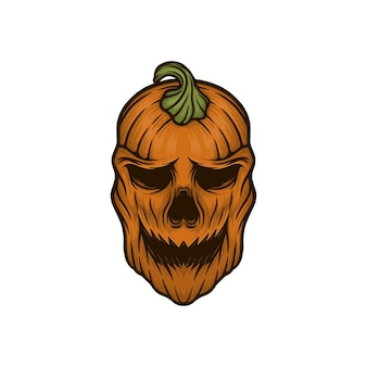 Halloween mask vector illustration