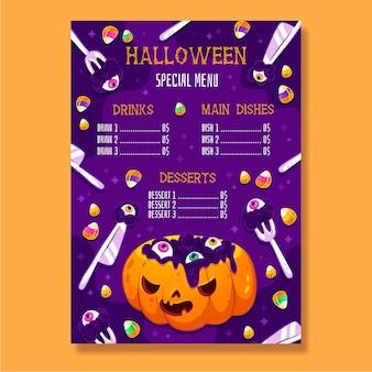 Концепция меню хэллоуина