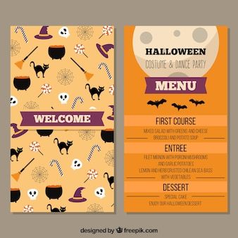 Halloween menu with fun elements