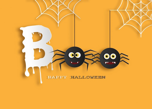 Halloween message boo for banner