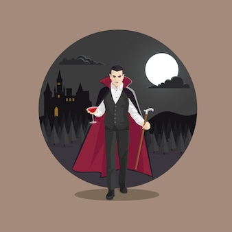 Halloween monster count dracula