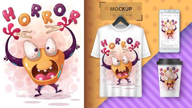 Halloween monster poster and merchandising