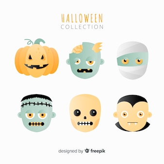 Halloween monsters collection