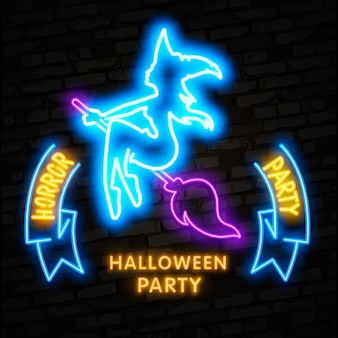 Halloween neon elements