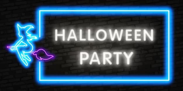 Halloween neon lettering