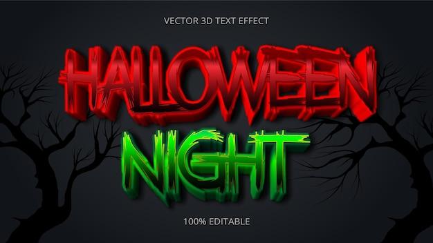Halloween night 3d text effect