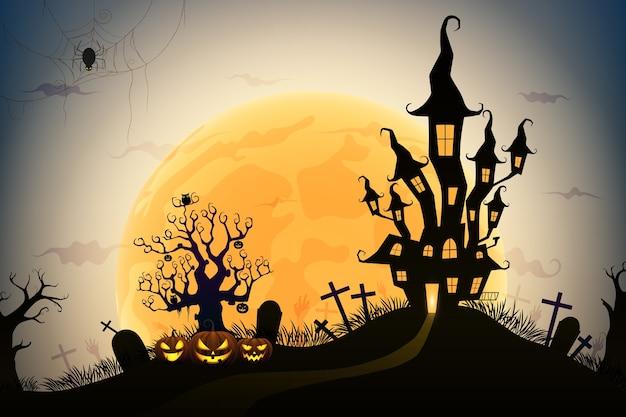 Хэллоуин ночной фон