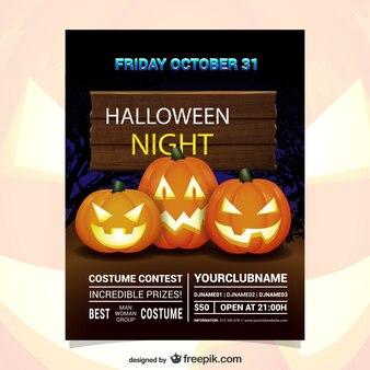 Хэллоуин ночь конкурс костюм флаер