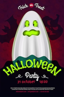 Halloween night party flyer. poster for your party.