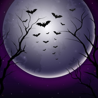 Would you expect anything else from 2020? RARE and spooky FULL MOON on Halloween Halloween-night-sky-with-full-moon-background_45843-291