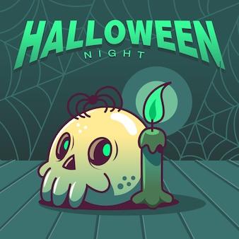 Хэллоуин ночь жуткий череп