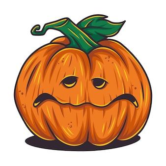 Halloween october pumpkin set with face emotion