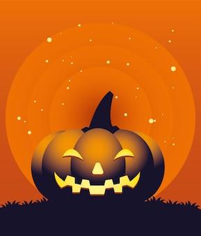 Хэллоуин оранжевая тыква мультяшный дизайн, праздник и страшная тема