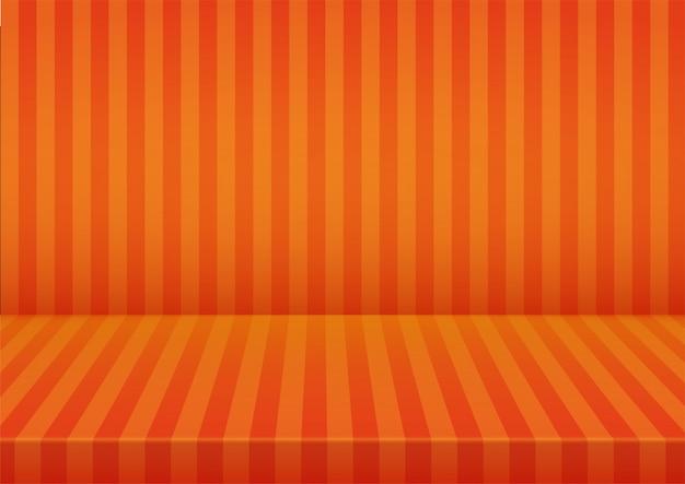 ハロウィーンオレンジストライプルーム背景。
