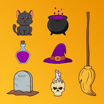 Halloween ornaments illustration