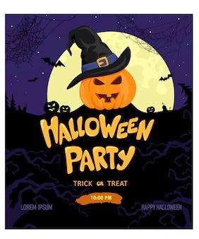 ハロウィーンパーティーの背景のdesign.illustration。かぼちゃ。こんにちは