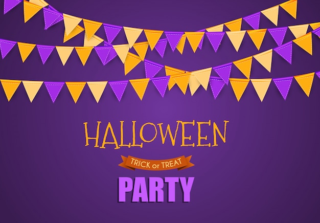 Halloween party background template.