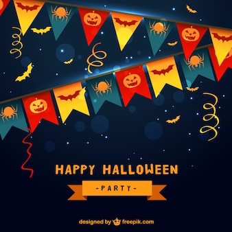 Festa di halloween sfondo con bandierine