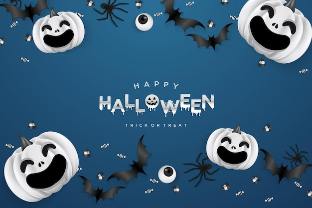 Halloween party background with scary illustration