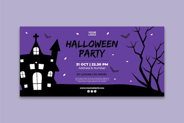 Halloween party banner template