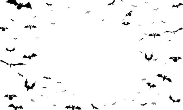 ハロウィーンパーティーのバットポスター。カーニバル背景コンセプトデザイン