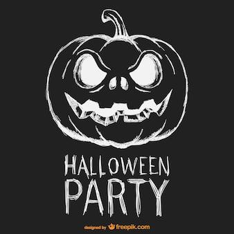 할로윈 파티 흑백 포스터