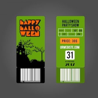 Halloween party card entry passes.halloween party tickets.