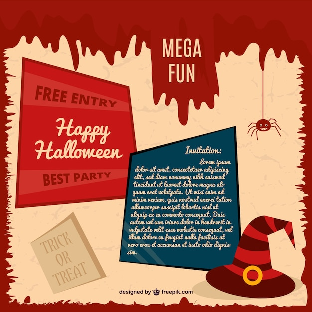 Halloween party карты приглашение