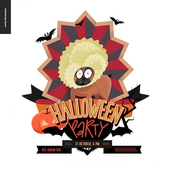Halloween party composed poster