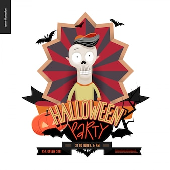 Halloween party composed