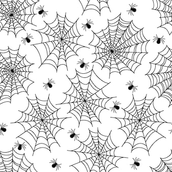 Halloween party decoration spider web seamless pattern