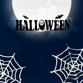 Halloween party design with creative design vector