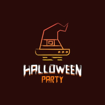 Halloween party design with dark brown background vector