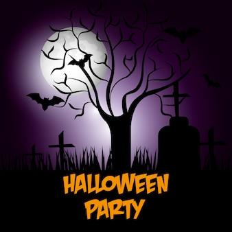 Halloween party design.