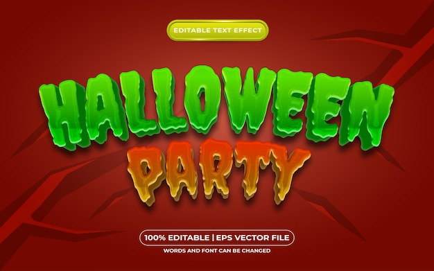 Halloween party editable text style effect suitable for halloween event theme