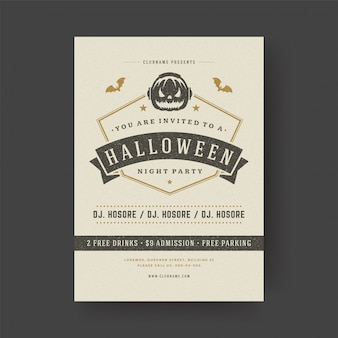 Halloween party flyer celebration night party poster