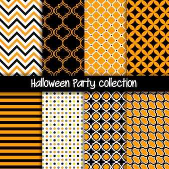 Halloween party geometric seamless pattern