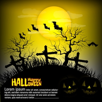 Halloween party, grave, background vector