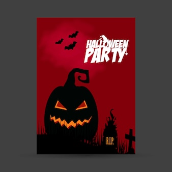 Halloween party invitation card with creative design vector