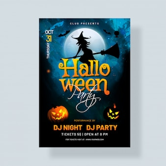Halloween party invitation card.