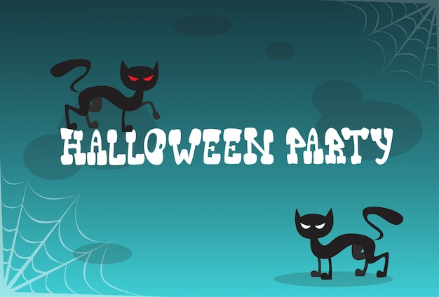 Halloween party invitation to celebration traditional decoration