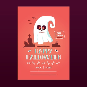 Halloween party invitation poster flyer banner