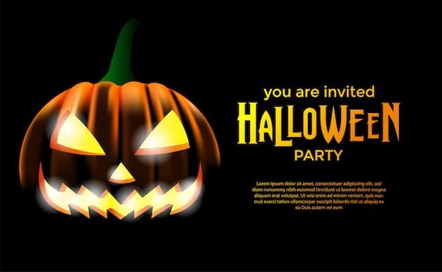Приглашение на хэллоуин Premium векторы