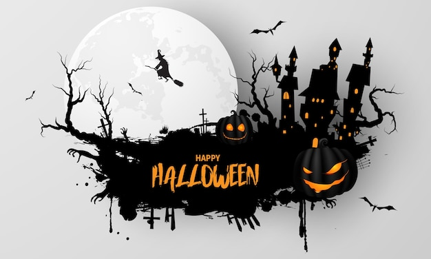 Halloween party poster. carnival background concept design