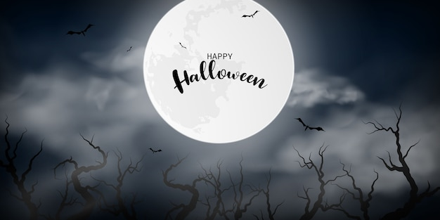 Плакат вечеринки в честь хэллоуина. карнавал фон концепции дизайна