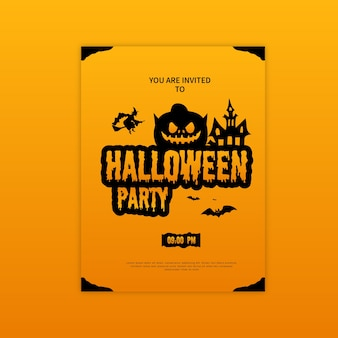 Halloween party poster design template