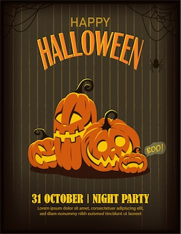 Halloween party poster or flyer template