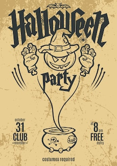 Halloween party poster .template design. vector illustration.